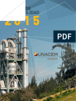 Reporte de Sostenibilidad 2015 UNACEM Ecuador