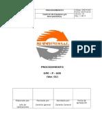 OPE-P-005 Procedimiento de Control de Herramientas