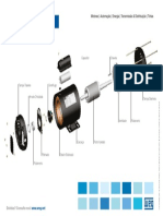 Cartaz Motor Monofásico Em Partes