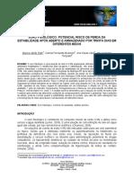 Artigo - Soro fisiologico - potencial risco de perda da estabilidade após aberto e amarzenado por 30 dias em diferentes meios.pdf