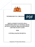 602019157_tender for Replacement of Five (5 No ) Lifts at Central Bank of Kenya Kisumu Branch Building and the Staff Clinic Cbk 22 2016 2017