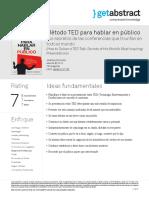 Metodo TED Para Hablar en Publico