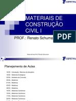 Aulas Materiais de Construção i 2016.1