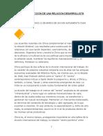 La Construcción de Una Relación Desarrollista Con China - Aldo Ferrer