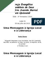 Ebd - Ieadmamq - 3º Trimestre 2015 - Lição 01