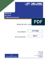 Bomba Triplex Lodo Manual 12T1600 Drillmec