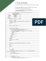 Exemplos de PLSQL