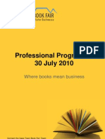 Cape Town Book Fair Professional Programme for 30 July 2010