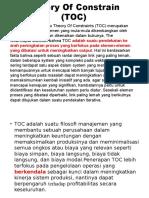 Teori Kendala Atau Theory of Constraints (TOC) Oke