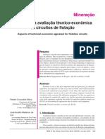 Aspectos da avaliação técnico-econômica  de circuitos de flotação