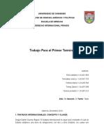Tratados internacionales, contratos y solucion de controversias
