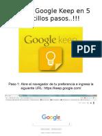 Usar Google Keep en 5 Sencillo Pasos