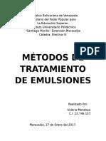 Métodos de tratamiento de emulsiones Agua-Crudo