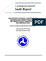 Audit of the Pipeline and Hazardous Materials Safety Administration