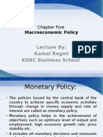 Chapter Five-Macroeconomic Policy