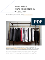 5 Steps to Achieve Operational Resilience in the Retail Sector