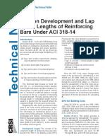 Dev and Lap Splice Lengths_ETN-D-1-15