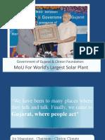Gujarat to become a Solar Power Hub