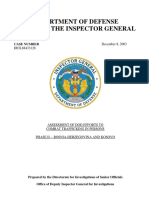 DOD Kosovo Human Trafficking Report 2003