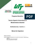Manual de Practicas Expresion Oral y Escrita II 2014