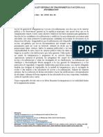Reseña Sobre La Ley Gral de Transparencia y Acceso a La Informacion