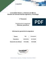 Informacion General de La Asignatura DSOP