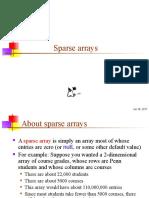 40 Sparse Arrays