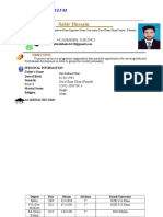 cv Sabir Hussain For Applying Mphil.docx