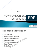 Chp5 How Foreign Exchange Rates Are Quoted