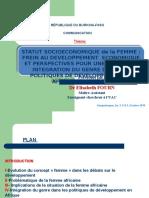 Statut Socioéco de La Femme PPT