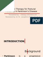 Terapi Fisik Untuk Instabilitas Postural Pada Penyakit Parkinson
