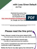 Jon Frye Presentation