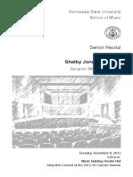 Senior Recital- Shelby Jones Bassoon