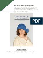 1920Pompom Cloche Hat