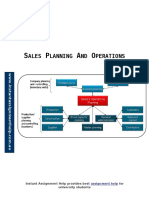 Sales Planning and Operations
