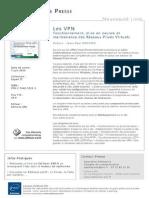 Les VPN - Fonctionnement, mise en oeuvre et maintenance des Réseaux Privés Virtuels