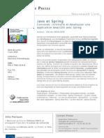 Java et Spring - Editions ENI
