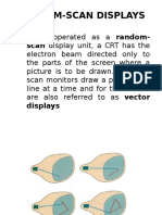 Random and Raster Scan Displays