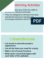 Skill Reading Brainstorming