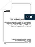 Regulation of Child Care Facilities and Foster Homes, Kansas, Audit, 2004.