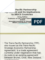 Trans-Pacific Partnership Agreement and Its Implications to BRICS