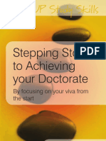 (Open UP Study Skills) Vernon Trafford_ Shosh Leshem-Stepping Stones to Achieving Your Doctorate _ Focusing on Your Viva From the Start-McGraw-Hill (2008)