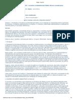 Convênio Da Administração Pública - Considerações