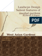 L-8 Salient Features of Persian and Mughal Garden