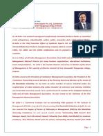 Dr M. Settu, CEO, Syndicate Exports Pvt Ltd, Coimbatore-STC College, Pollachi- Profile 2017