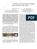 Computer vision grading system for physical quality evaluation of green coffee beans