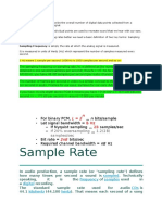 ===Sample Rate