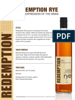 Redemption Rye Tech Sheets