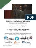 Arts Et Al. - 2016 - Colloque Stéréoscopie Et Illusion Stereoscopy and Illusion Stéréoscopie Et Illusion-Annotated
