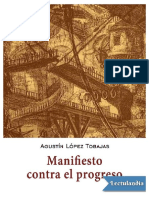 Manifiesto Contra El Progreso - Agustin Lopez Tobajas